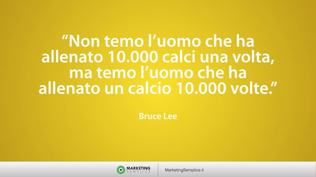citazione marketing bruce lee