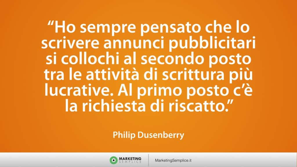citazione marketing philip duseberry
