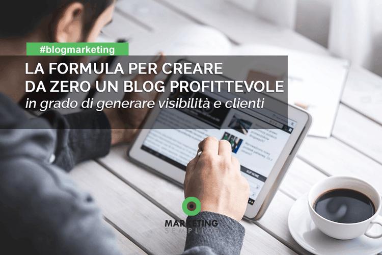 costruire da zero un blog profittevole
